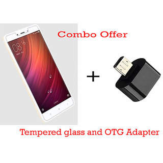 Redmi note 4 Tempered glass + OTG Adapter high quality lowest price