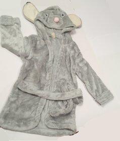 Mouse baby bathrobe, imported hooded bathrobe