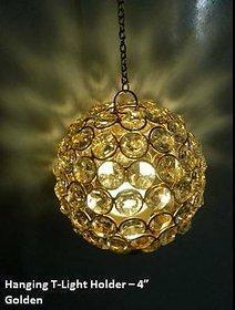 Hanging T-Light Holder - Golden