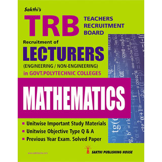 Trb Lecturers Mathematics(govt.polytechnic colleges)