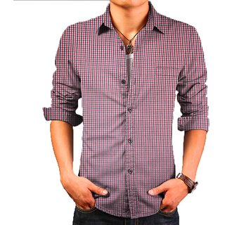 Red check pure cotton imported Quality