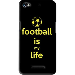 Snooky Printed Football Is Life Mobile Back Cover For Micromax Canvas Hue 2 - Multi