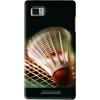 Snooky Printed Badminton Mobile Back Cover For Lenovo K910 - Multi