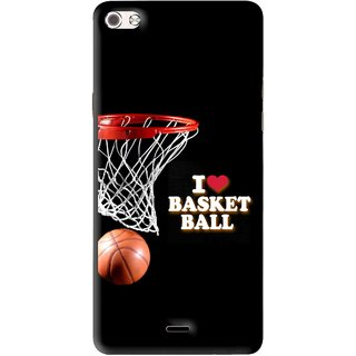 Snooky Printed Love Basket Ball Mobile Back Cover For Micromax Canvas Sliver 5 Q450 - Multi