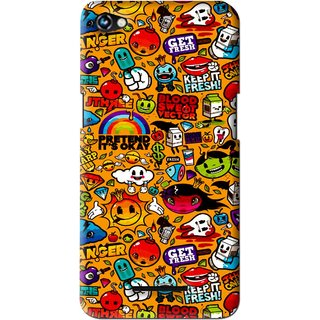 Snooky Printed Freaky Print Mobile Back Cover For Micromax Canvas Hue 2 - Multi