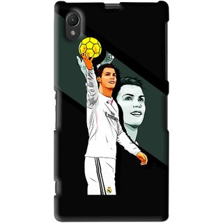 Snooky Printed I Win Mobile Back Cover For Sony Xperia Z1 - Multi