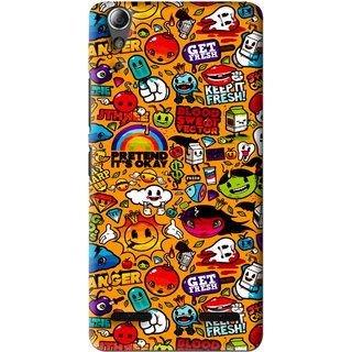 Snooky Printed Freaky Print Mobile Back Cover For Lenovo A6000 Plus - Multi