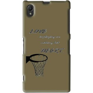 Snooky Printed Heart Games Mobile Back Cover For Sony Xperia Z1 - Multi