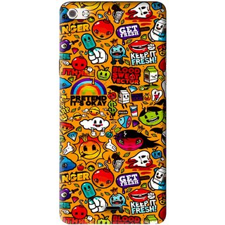 Snooky Printed Freaky Print Mobile Back Cover For Micromax Canvas Sliver 5 Q450 - Multi
