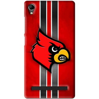 Snooky Printed Red Eagle Mobile Back Cover For Intex Aqua Power Plus - Multi