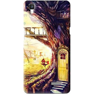 Snooky Printed Dream Home Mobile Back Cover For Oppo R7 - Multi