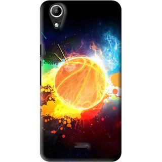 Snooky Printed Paint Globe Mobile Back Cover For Micromax Bolt Q338 - Multi