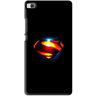 Snooky Printed Super Hero Mobile Back Cover For Huawei Ascend P8 - Multi