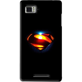 Snooky Printed Super Hero Mobile Back Cover For Lenovo K910 - Multi