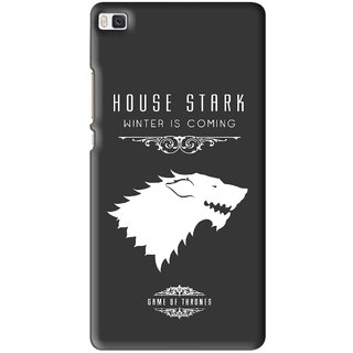 Snooky Printed House Stark Mobile Back Cover For Huawei Ascend P8 - Multi