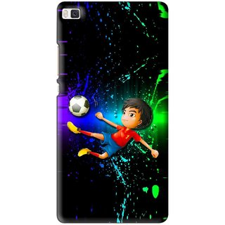 Snooky Printed High Kick Mobile Back Cover For Huawei Ascend P8 - Multi