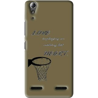 Snooky Printed Heart Games Mobile Back Cover For Lenovo A6000 Plus - Multi