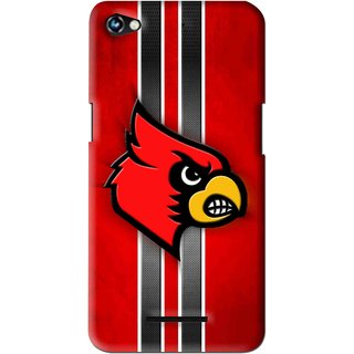 Snooky Printed Red Eagle Mobile Back Cover For Micromax Canvas Hue 2 - Multi