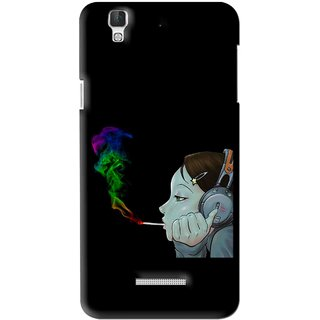 Snooky Printed Color Of Smoke Mobile Back Cover For Coolpad Dazen F2 - Multi