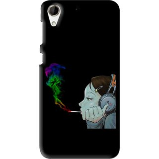 Snooky Printed Color Of Smoke Mobile Back Cover For HTC Desire 728 - Multi