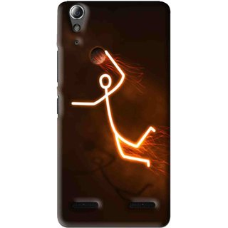 Snooky Printed Burning Man Mobile Back Cover For Lenovo A6000 Plus - Multi