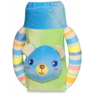 Wonderkids Plush Twin Handle Bottle Cover Medium - Teddy Motif (3 to 12 Months)