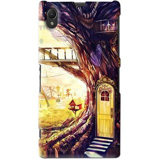 Snooky Printed Dream Home Mobile Back Cover For Sony Xperia Z1 - Multi