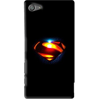 Snooky Printed Super Hero Mobile Back Cover For Sony Xperia Z5 Compact - Multi