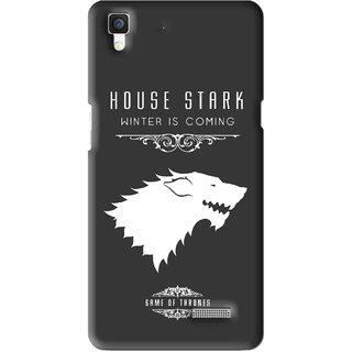 Snooky Printed House Stark Mobile Back Cover For Oppo R7 - Multi