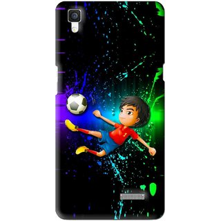 Snooky Printed High Kick Mobile Back Cover For Oppo R7 - Multi