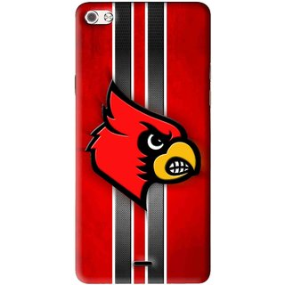 Snooky Printed Red Eagle Mobile Back Cover For Micromax Canvas Sliver 5 Q450 - Multi
