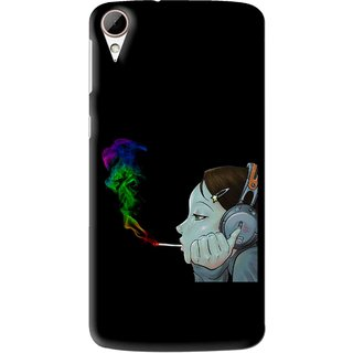 Snooky Printed Color Of Smoke Mobile Back Cover For HTC Desire 828 - Multi