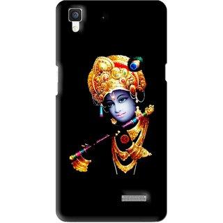 Snooky Printed God Krishna Mobile Back Cover For Oppo R7 - Multi