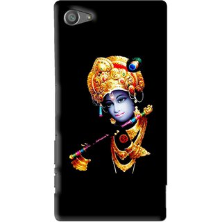 Snooky Printed God Krishna Mobile Back Cover For Sony Xperia Z5 Compact - Multi