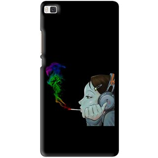 Snooky Printed Color Of Smoke Mobile Back Cover For Huawei Ascend P8 - Multi