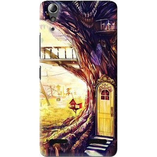 Snooky Printed Dream Home Mobile Back Cover For Lenovo A6000 Plus - Multi
