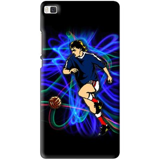 Snooky Printed Football Passion Mobile Back Cover For Huawei Ascend P8 - Multi