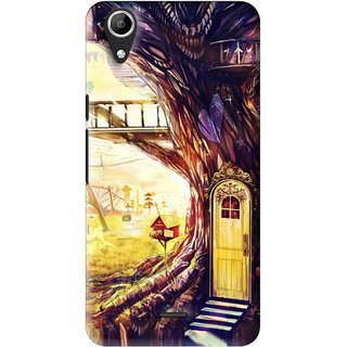Snooky Printed Dream Home Mobile Back Cover For Micromax Bolt Q338 - Multi