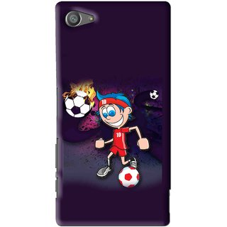 Snooky Printed My Game Mobile Back Cover For Sony Xperia Z5 Compact - Multi