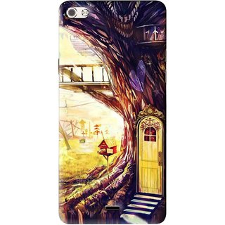 Snooky Printed Dream Home Mobile Back Cover For Micromax Canvas Sliver 5 Q450 - Multi