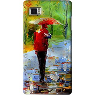 Snooky Printed Painting Mobile Back Cover For Lenovo K910 - Multi