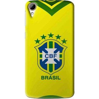 Snooky Printed Brasil Mobile Back Cover For HTC Desire 828 - Multi