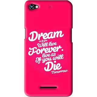 Snooky Printed Live the Life Mobile Back Cover For Micromax Canvas Hue 2 - Multi
