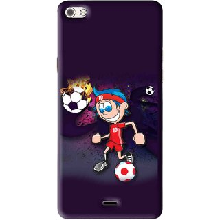 Snooky Printed My Game Mobile Back Cover For Micromax Canvas Sliver 5 Q450 - Multi