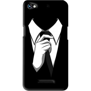 Snooky Printed White Collar Mobile Back Cover For Micromax Canvas Hue 2 - Multi