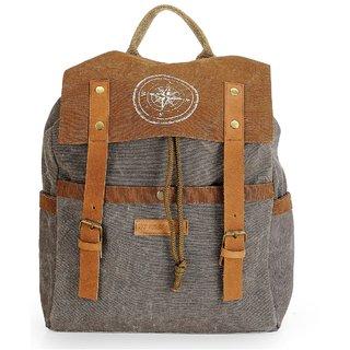The House of Tara Dual Tone Canvas Backpack (Stone Grey) HTBP 131