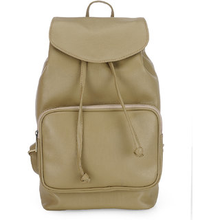 The House Of Tara Vegan Leather Backpack (Nomad Beige) HTBP 133