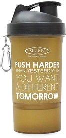 Sinew Nutrition Smart Shaker Bottles Available 600ml -20 oz (Brown/Black)