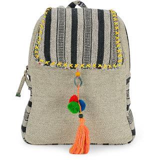 The House of Tara Handloom Fabric Stylish Everyday Backpack HTBP 114