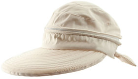 Modo Vivendi Woman Summer Sun Hat  Visor Cap Brim Large Zipper Dual-Use Sunscreen Hats(Beige)